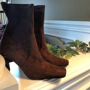 Dark Brown Suede Boots never worn